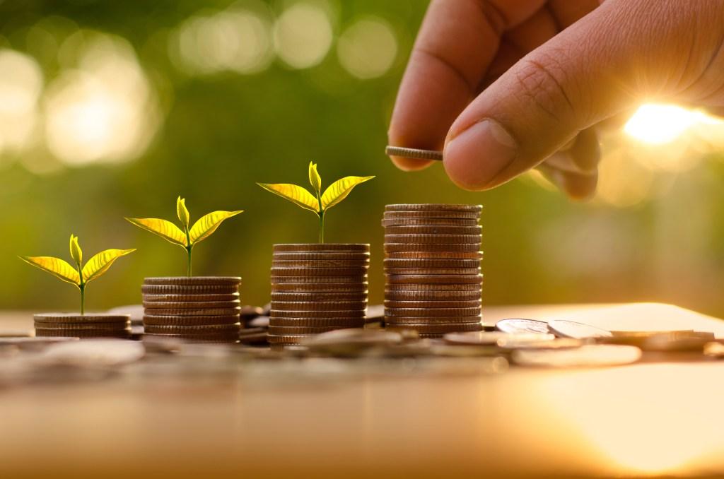 saving money and investor insurance concept