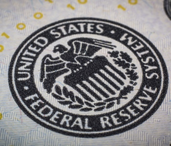 federal reserve logo on bill
