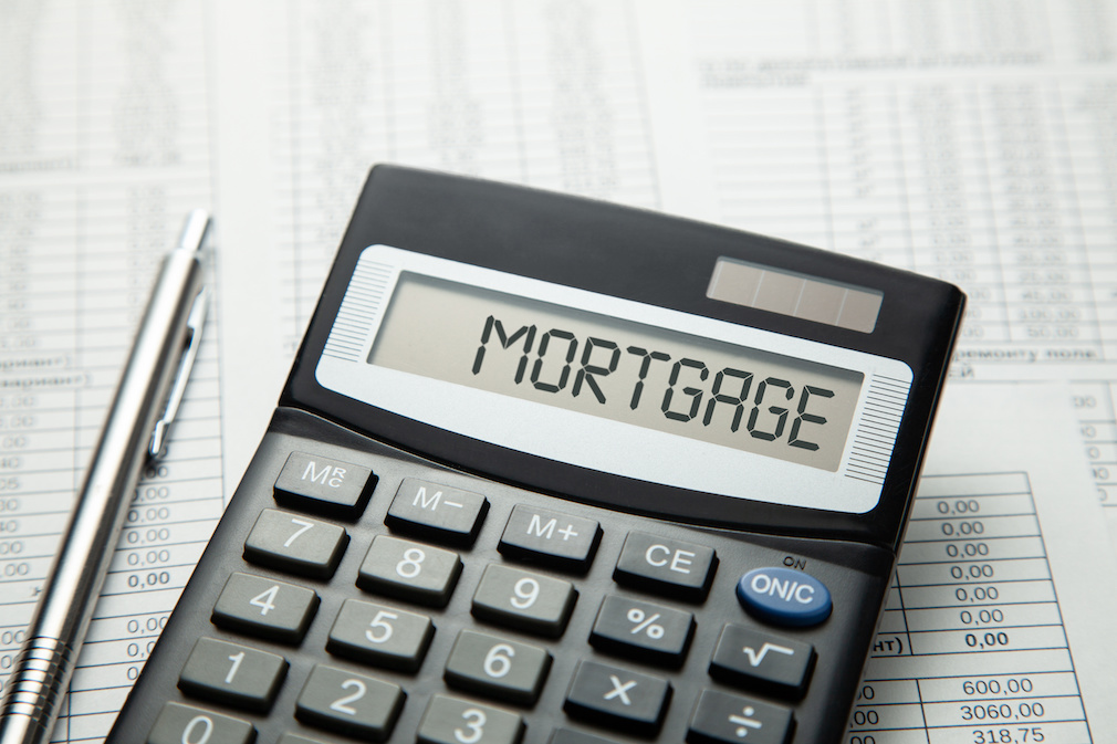 6405474 Calculator with inscription on a display MORTGAGE