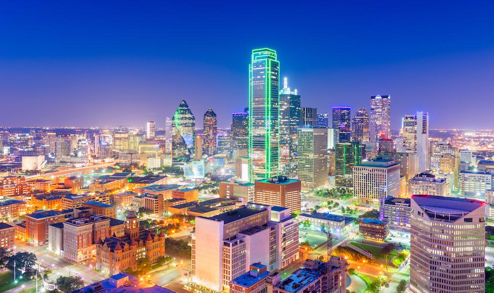 Dallas skyline night
