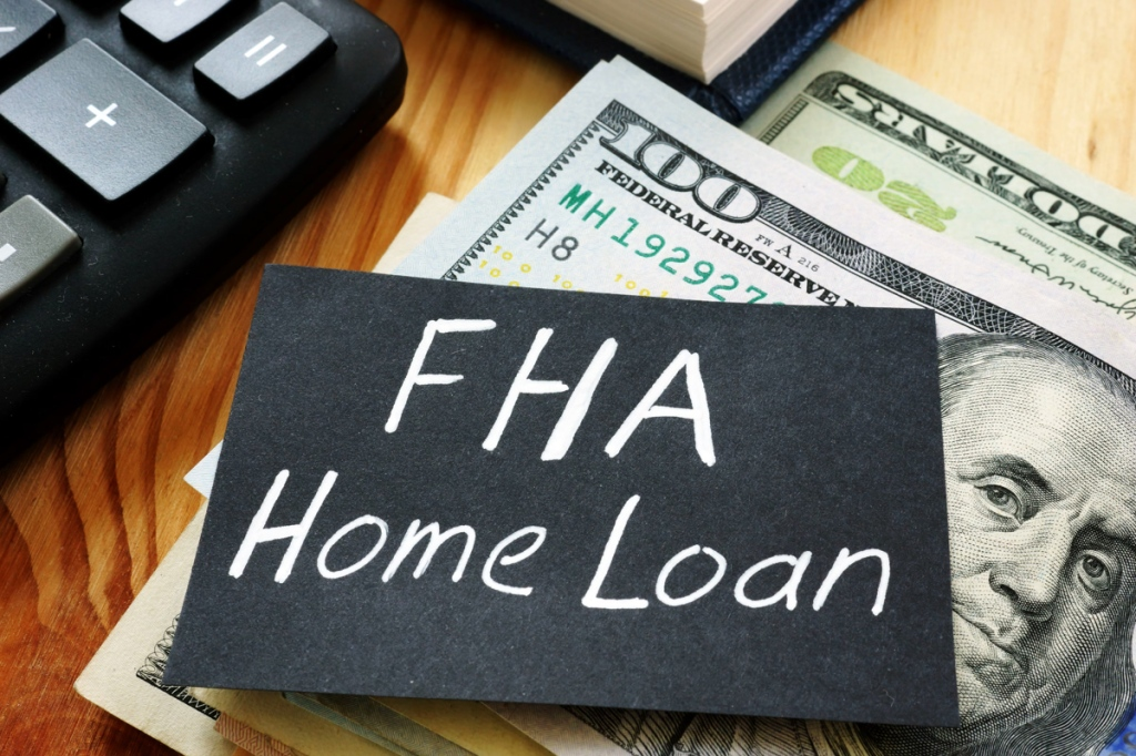 mortgage applications, Text sign showing hand written words FHA Home loan