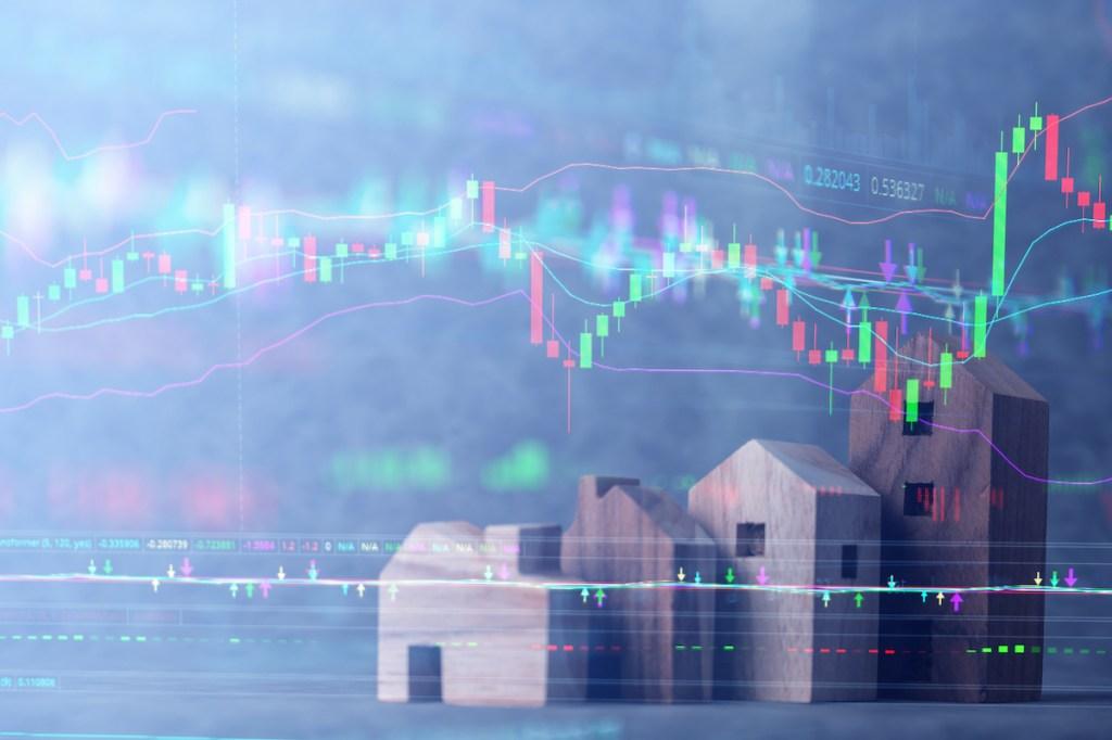 Graph, finance, houses