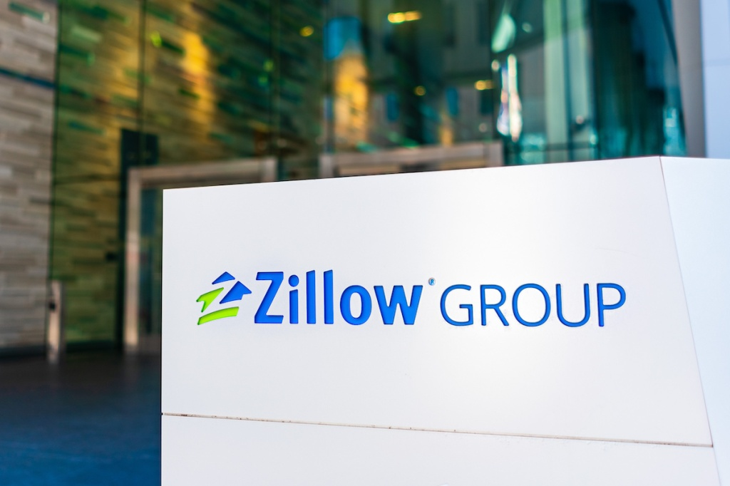 Jan 18, 2020 San Francisco / CA / USA - Zillow headquarters in SoMa District; Zillow Group, Inc is an American online real estate database company