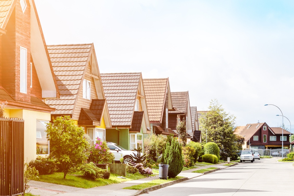 Middle class neighborhood