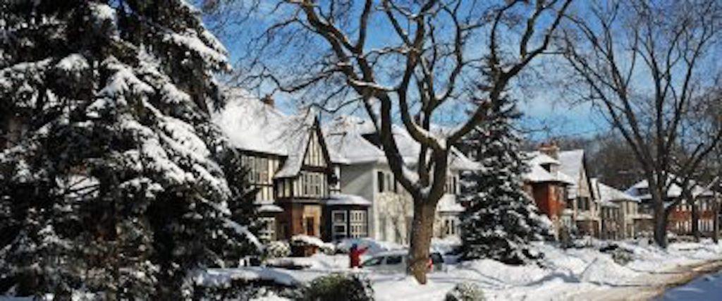 winter, snow, housing, house, neighborhood, cold