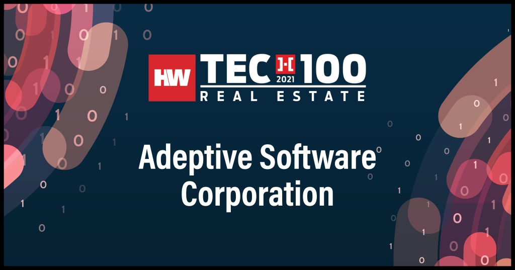 Adeptive Software Corporation-2021 Tech100 winners -Real Estate