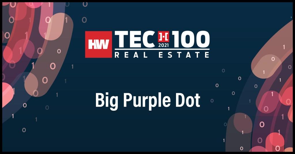 Big Purple Dot-2021 Tech100 winners -Real Estate