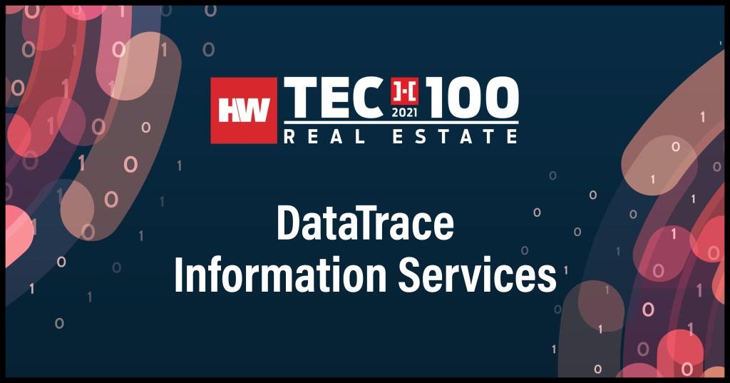 DataTrace Information Services-2021 Tech100 winners -Real Estate