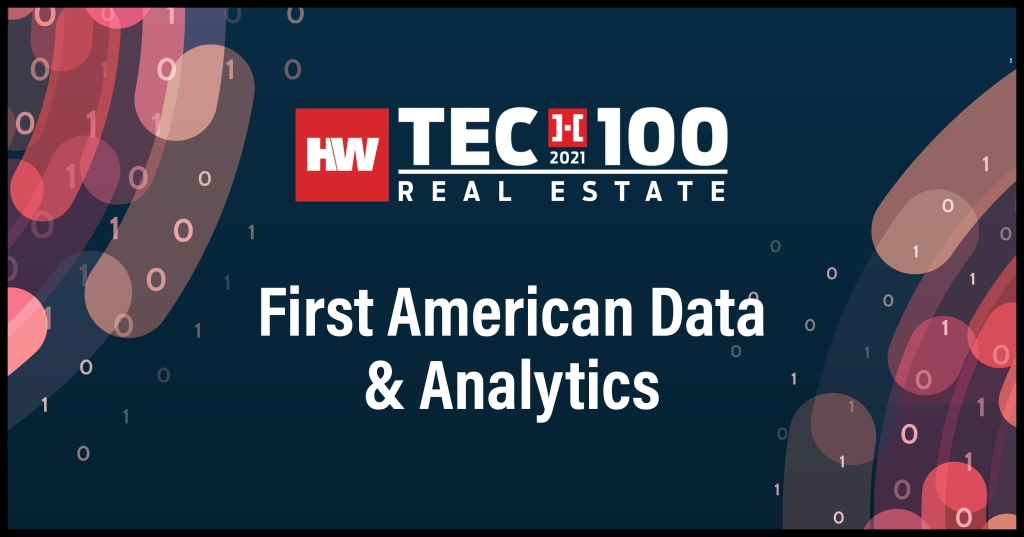 First American Data & Analytics-2021 Tech100 winners -Real Estate