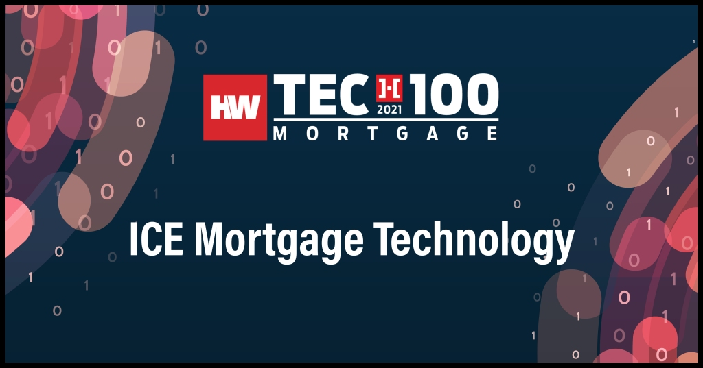ICE Mortgage Technology-2021 Tech100 winners-mortgage