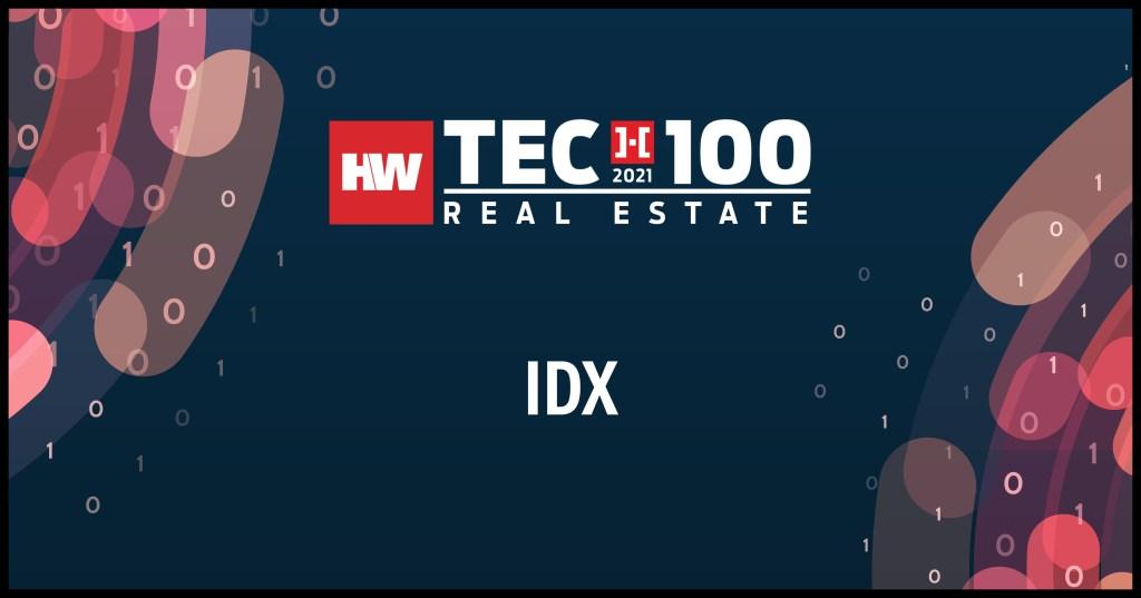IDX-2021 Tech100 winners -Real Estate