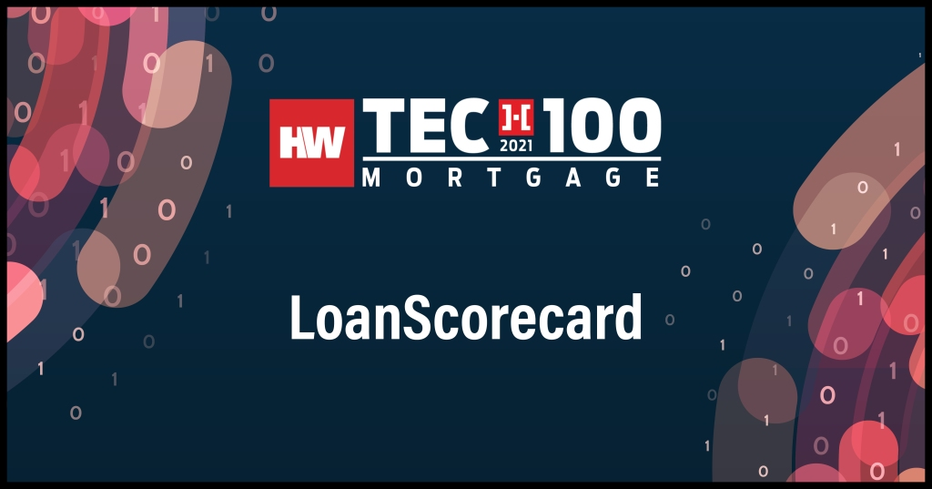 LoanScorecard-2021 Tech100 winners-mortgage