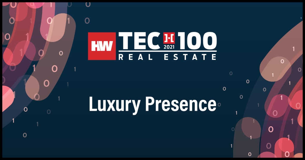 Luxury Presence-2021 Tech100 winners -Real Estate