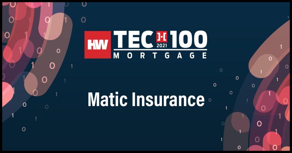 Matic Insurance-2021 Tech100 winners-mortgage