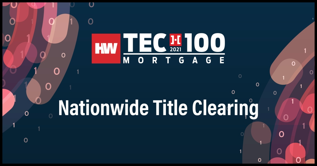 Nationwide Title Clearing-2021 Tech100 winners-mortgage