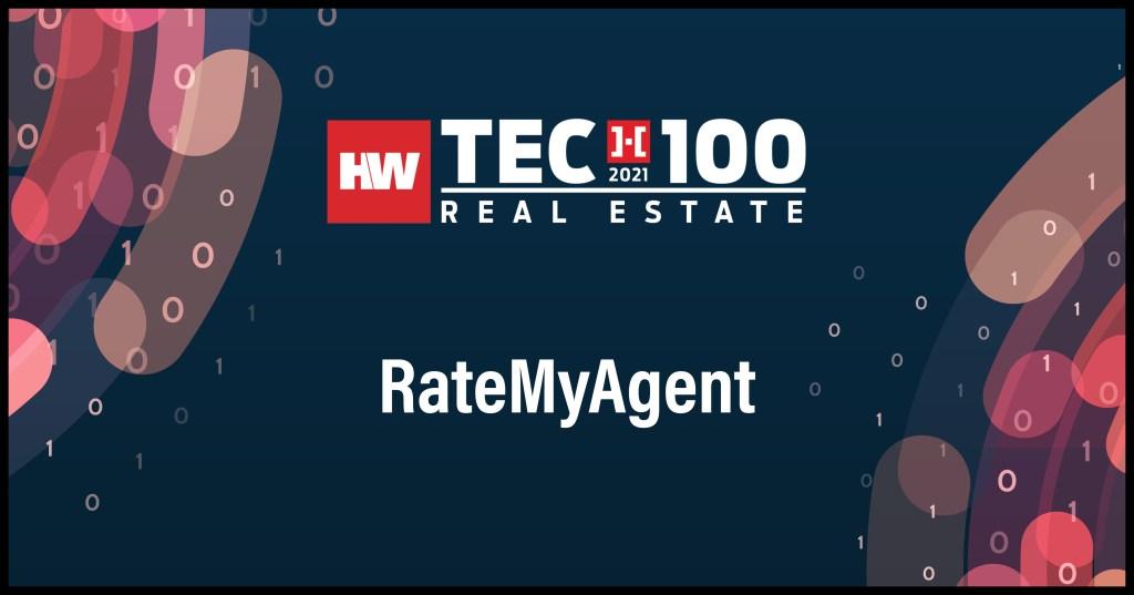 RateMyAgent-2021 Tech100 winners -Real Estate