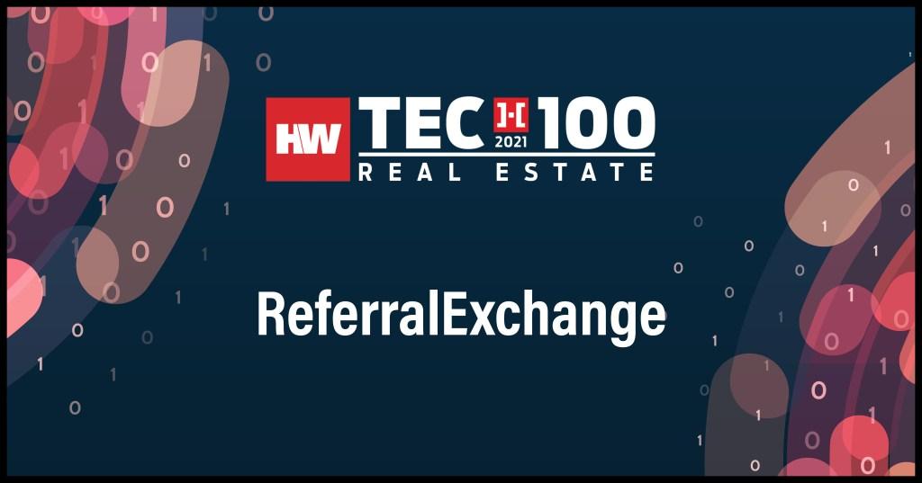 ReferralExchange-2021 Tech100 winners -Real Estate