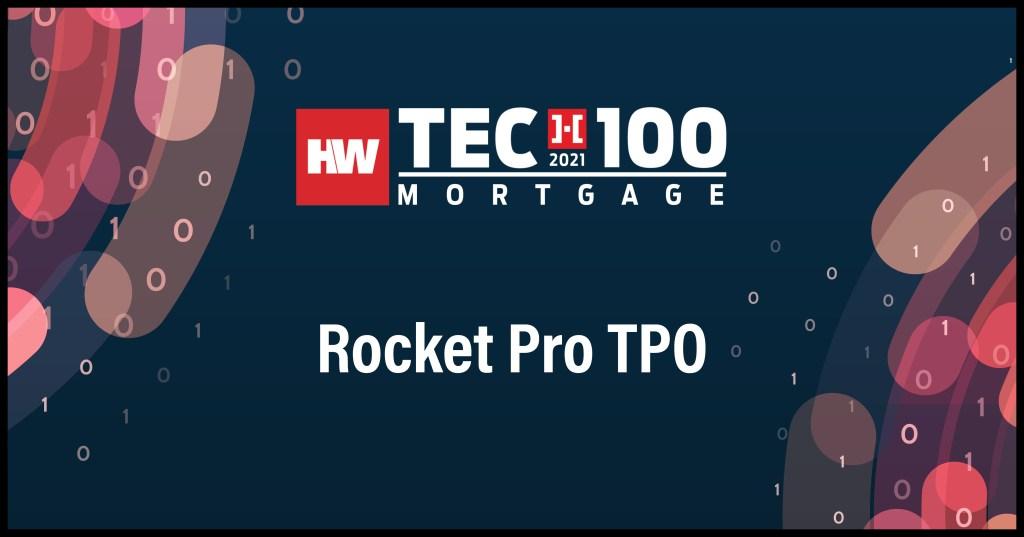 Rocket Pro TPO-2021 Tech100 winners-mortgage