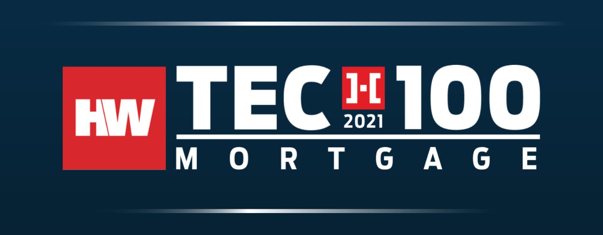 2021 HW Tech100 Mortgage Winners
