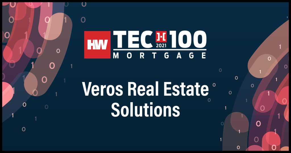 Veros Real Estate Solutions-2021 Tech100 winners-mortgage