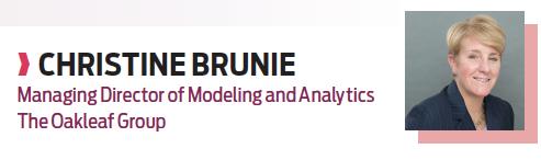 Christine Brunie, managing director of modeling and analytics, Oakleaf Group