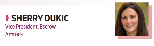 Sherry Dukic, vice president, escrow, Amrock