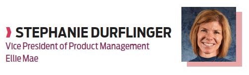 Stephanie Durflinger, vice president of product management, Ellie Mae