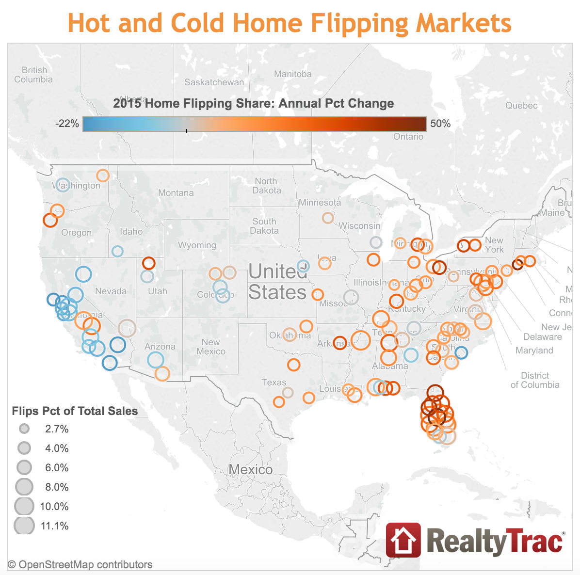 2015 Hot and Cold Home Flipping Markets