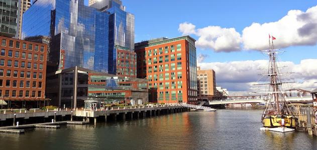 Boston skyline from water