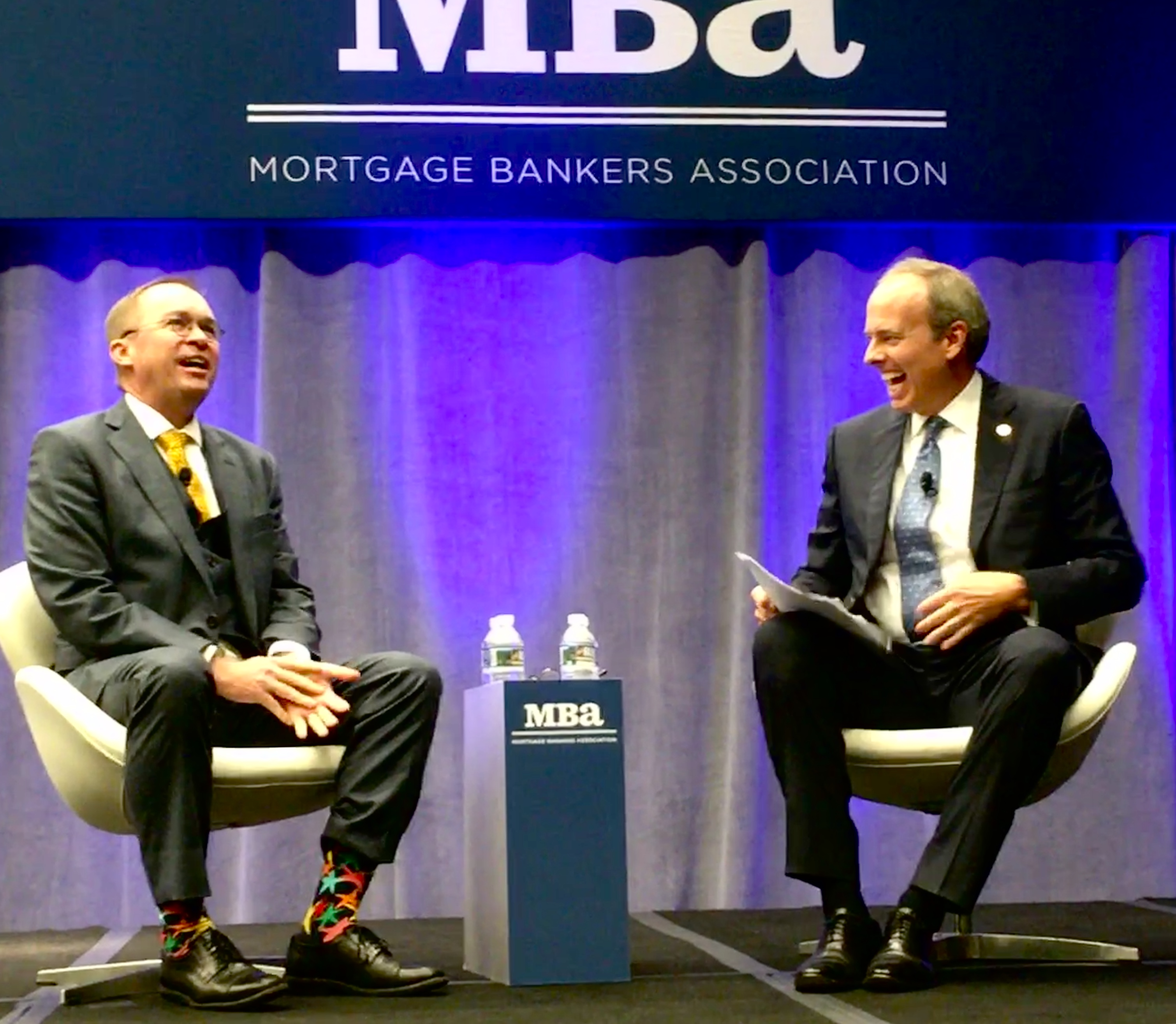 Mick Mulvaney and Bob Broeksmit at MBA Annual