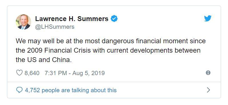 Summers tweet on economy