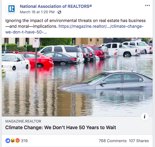 NAR post on climate change