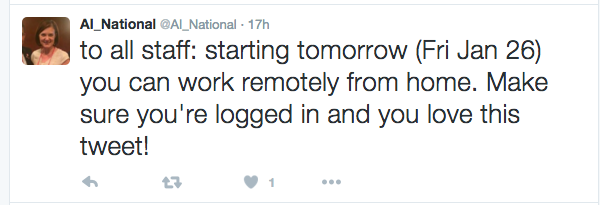 AI_National work from home tweet Screen Shot 2016-01-22 at 11.42.47 AM
