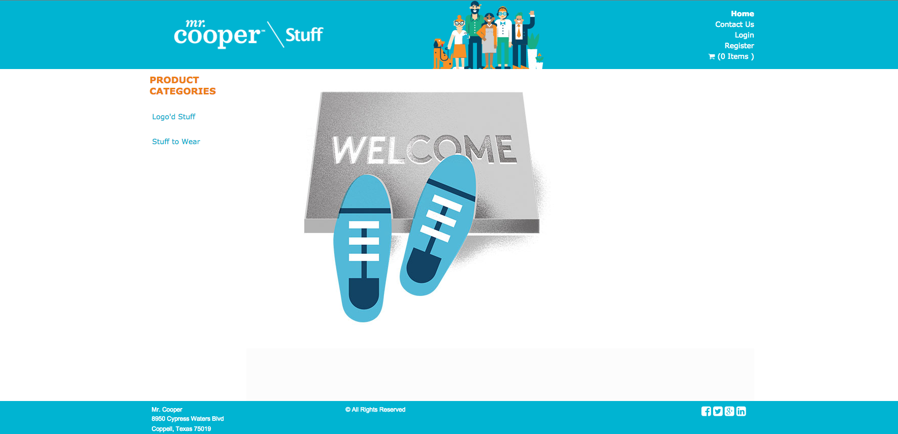 Mr. Cooper online store home
