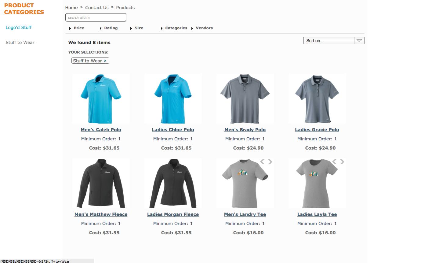 Mr. Cooper online store stuff to wear