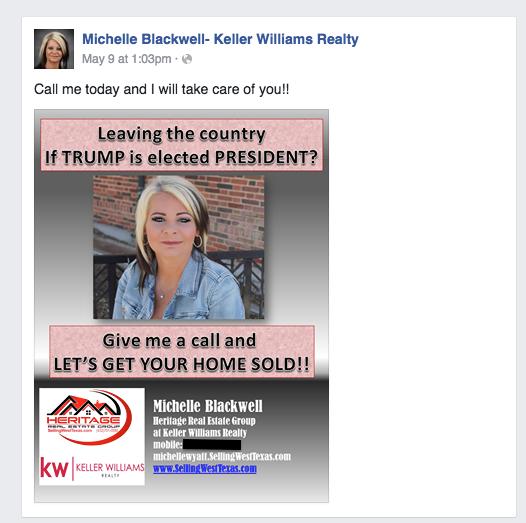 Michelle Blackwell Trump Facebook post