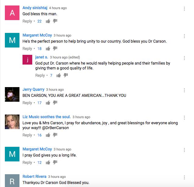 Carson comments