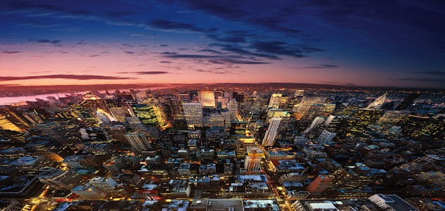 New York night aerial